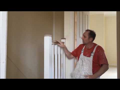 How to paint stairs with a varnished handrail