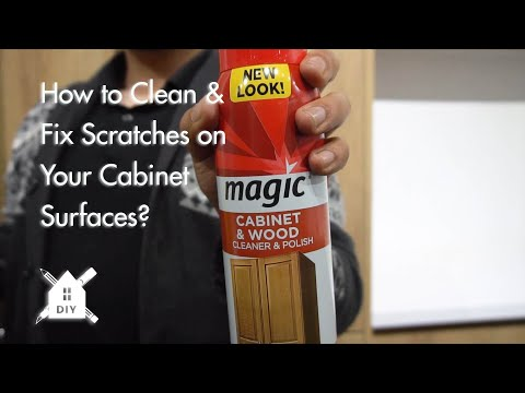How to Clean and Fix Scratches on Your Cabinet Surfaces #DIY