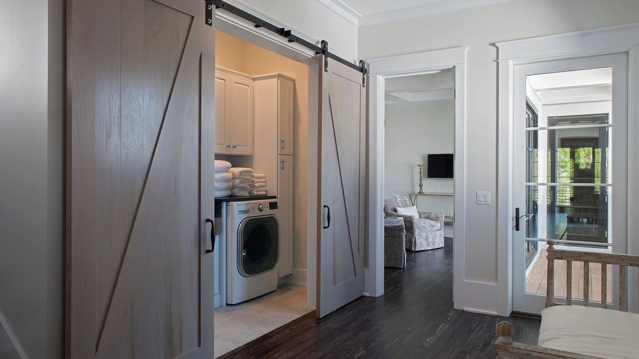 Laundry Room barn Door - YouTube