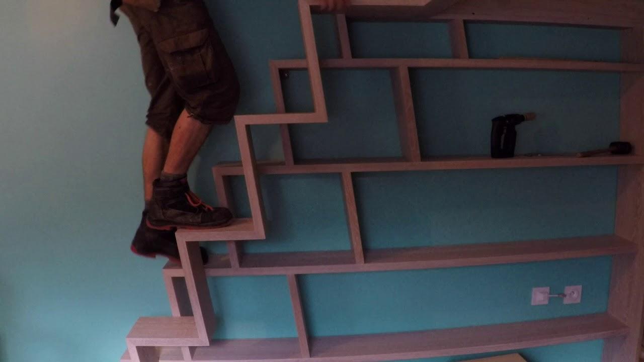 Lit Mezzanine Escalier Cube lit mezzanine avec son armoire et son bureau par boris