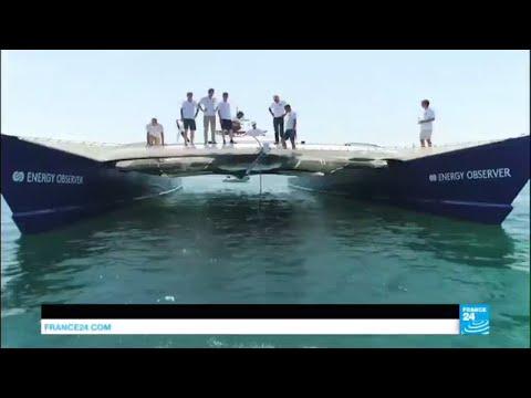 Environnement : Energy Observer, le 1er bateau autonome en énergie baptisé à Paris