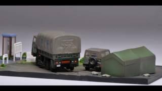 Nサイズ陸上自衛隊 73式大型トラック+73式小型トラック