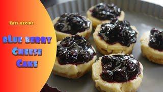 MINI BLUEBERRY CHEESE CAKE 2 way Recipe Bake or No Bake