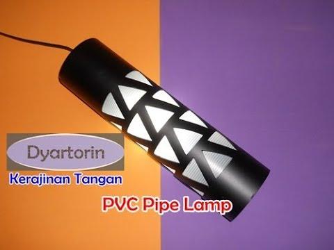 Kreasi lampu gantung dari pipa air | how to make a pvc pipe lamp