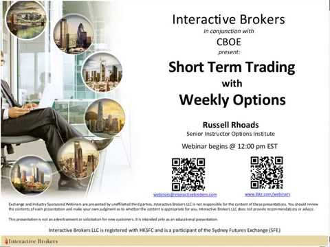 CBOE – Short Term Trading with Weekly Index Options