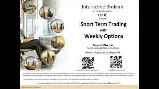 CBOE - Short Term Trading with Weekly Index Options