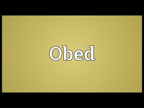 Obed Meaning