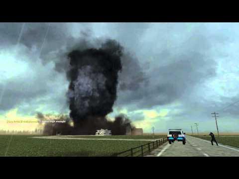 GMOD Storm Chasers: Air Ship vs. Tornado
