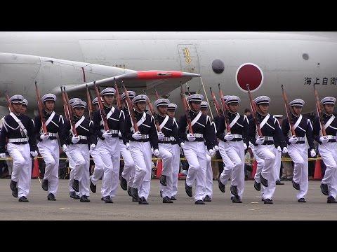 防衛大学校儀仗隊ドリル 海上自衛隊下総航空基地開設56周年記念行事 JMSDF