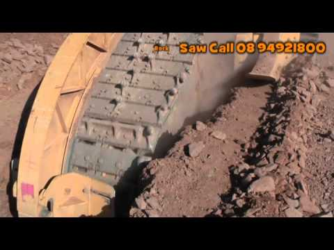 Rock Saw Trencher DM Civil 1475 Tesmec Rock Saw Pipelaying.mp4