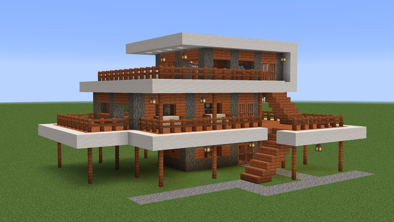 Minecraft How To Build A Modern Stilt House Youtube