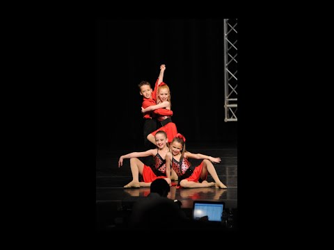 "Jr. Jazz Dance age 9 ""Dance With Me Tonight"" Small Group Coreographed by Willl Jardell (ANTM21)"
