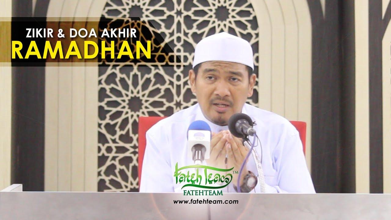 Ustaz Ahmad Dusuki Abd Rani Zikir Doa Akhir Ramadhan