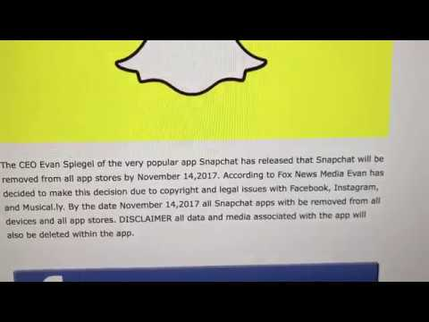 Snapchat is shutting down in 2019?
