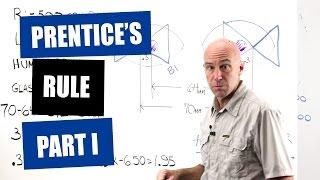 Optician Training: Prentice's Formula (Rule) Part 1