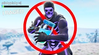 Fortnite but you're NOT ALLOWED to HEAL... (rage)