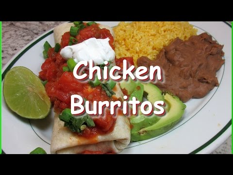 How to Make Chicken Burritos ~ Easy Mexican Burrito Recipe