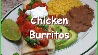 Mexican Chicken Black Bean Chipotle Burritos