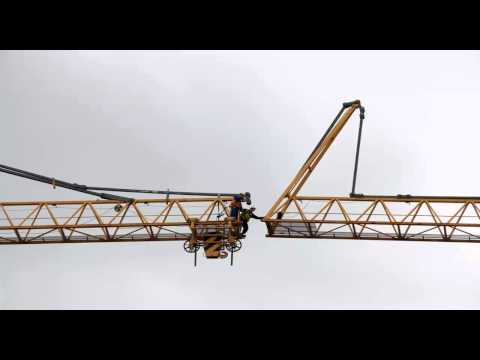 Offshore crane boom repairs Batam Indonesia by caltav.com