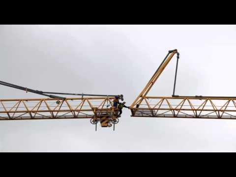 Offshore crane boom repairs Batam Indonesia by caltav.com
