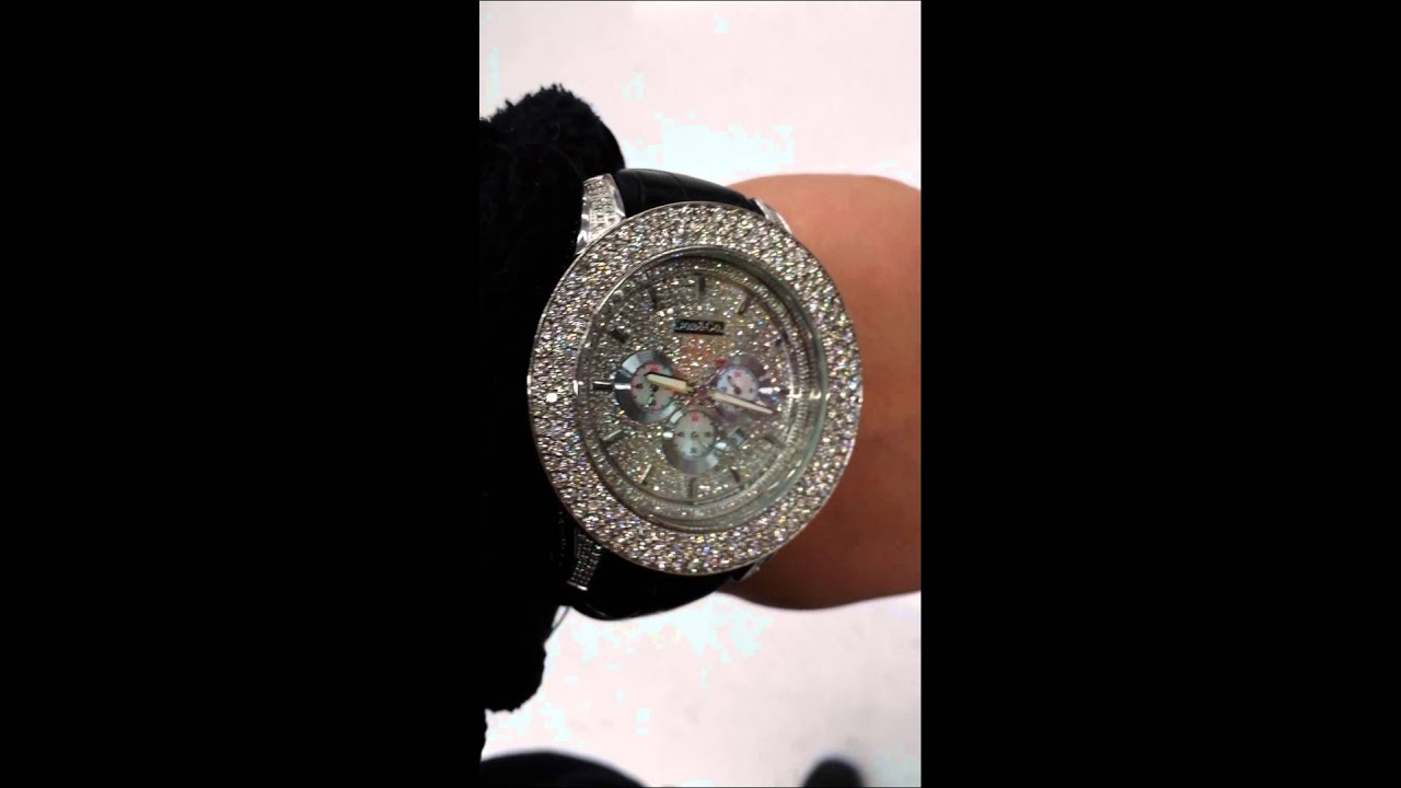 Don & Co Mens Diamond Watch 10 Cts ICED OUT!!