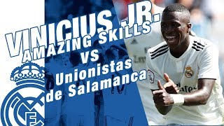 VINICIUS JR. amazing goal and skills VS Unionistas de Salamanca