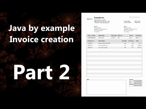 Invoice creation part 2 (Java by Example)