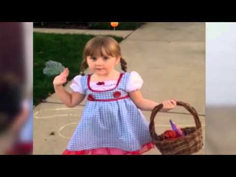 Little Girl Says NOPE! to Scary Halloween Decoration.mp4