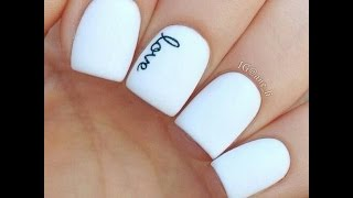 Маникюр Белые Ногти - 2018 / White Nails Manicure