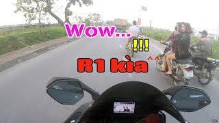 Girls's reactions when see Yamaha R1 | Motovlog