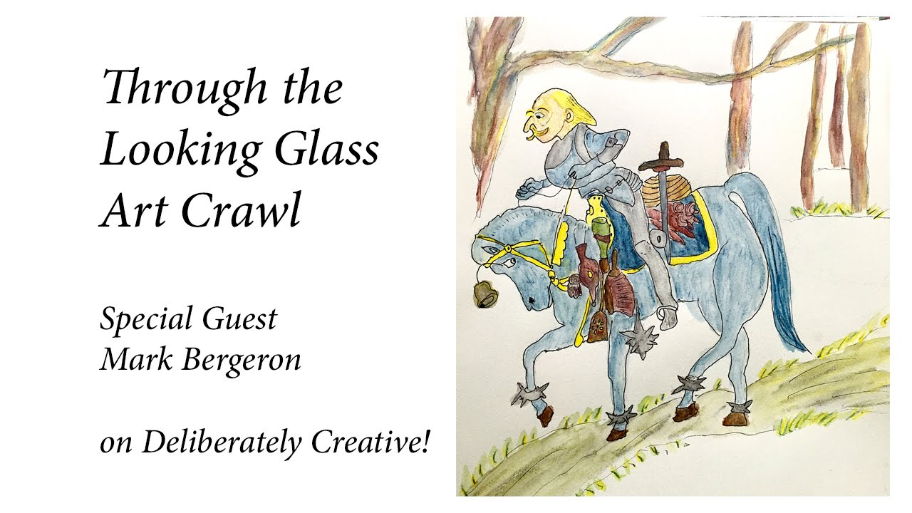 Speed Paint The White Knight Through The Looking Glass Art Crawl