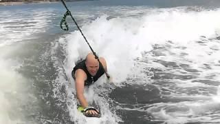 slyde handboards wake surfing with a handboard on carlsbad lagoon ca