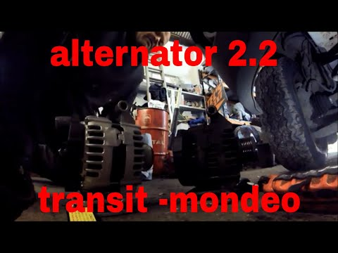 how to replace a alternator 2.2 tdci ford transit mondeo fix repair fit fitting