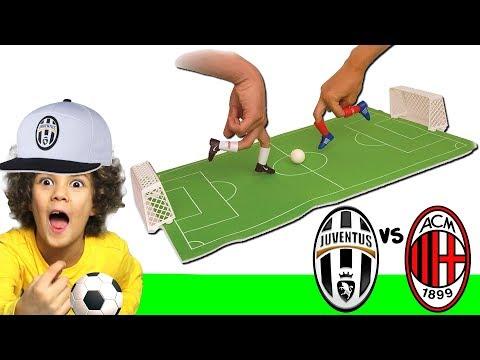 CALCIO CON LE DITA  *Football Finger Challenge* | JUVENTUS vs MILAN 2 1