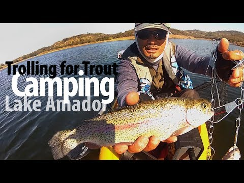 Camping And Trolling For Trout At Lake Amador