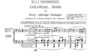 Percy Grainger - Colonial Song (1912/1918)