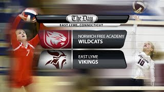 NFA at East Lyme volleyball