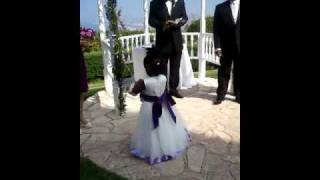 3 year old lemani as a flower girl