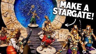 Craft a Glowing STARGATE PORTAL for Tabletop Games (Dungeons & Dragons, Warhammer Terrain)