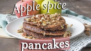 Apple Spice Pancakes (vegan + Whole Grain With Spelt & Teff Flour)