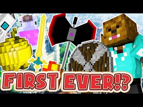 FIRST EVER MINECRAFT MODDED UHC - OVERPOWERED WEAPONS AND ARMOR MOD MINIGAME