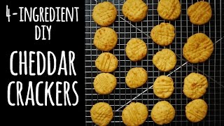 Simplest Cheddar Crackers - Easy School Lunch Recipes | One Hungry Mama