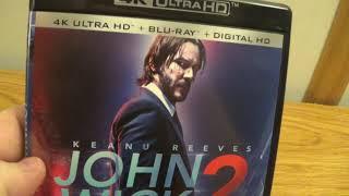 John Wick 2 4K blu-ray unboxing