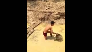 Cambodian Traditional Catching Fish in porn