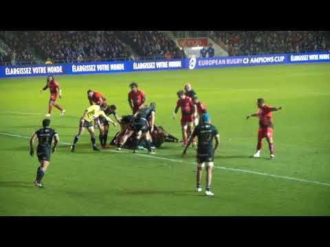 Rugby Coupe d'Europe des Champions RCT Toulon vs Bath Essai Anthony BELLEAU Live 2017/2018