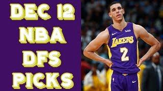 12/12/17 NBA DraftKings Picks