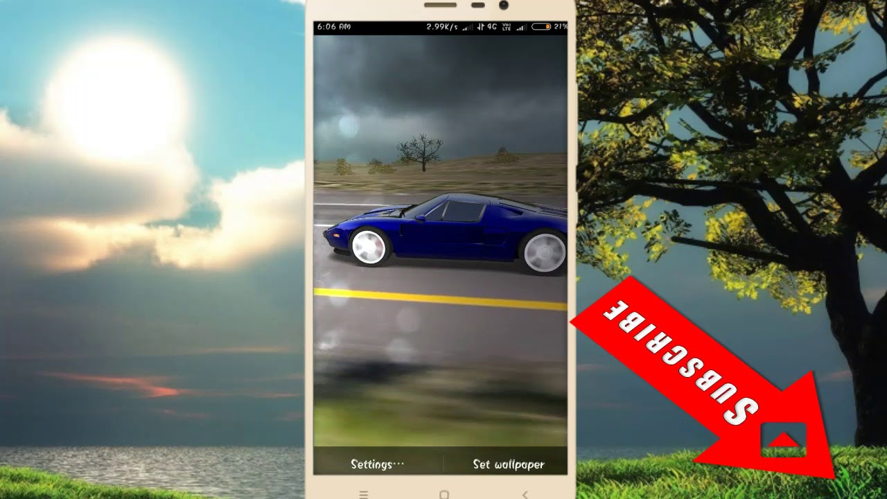 Really 3d Car Racing Live Wallpaper For Android Mobile Car
