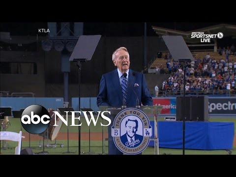 Vin Scully  Voice of the Dodgers Gives His Final Farewell