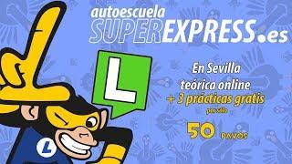 Por 50 pavos: Teórica online + 3 prácticas gratis, en Sevilla