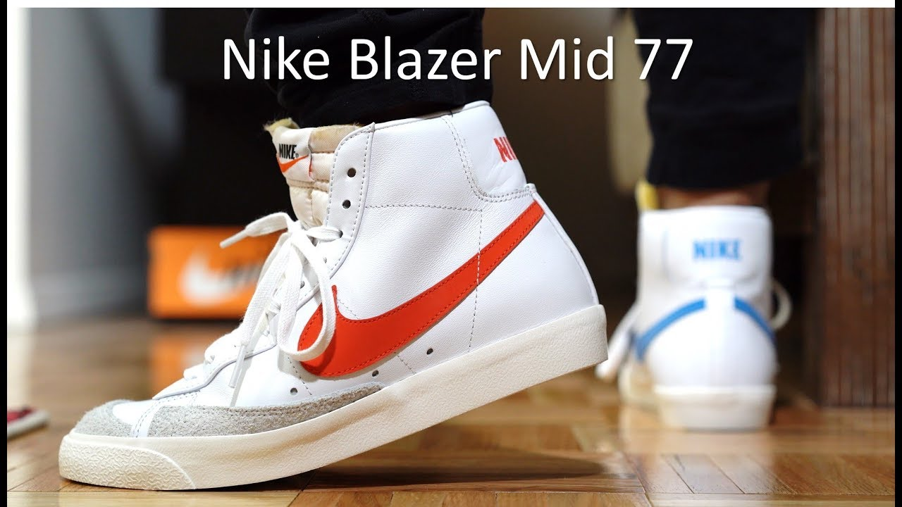alivio Hay una necesidad de Rascacielos  Nike Blazer Mid 77 Review/On-Feet - YouTube